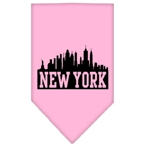 New York Skyline Screen Print Bandana Light Pink Large