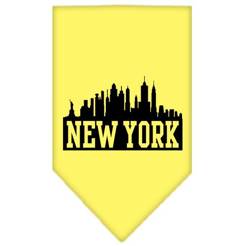 New York Skyline Screen Print Bandana Yellow Large