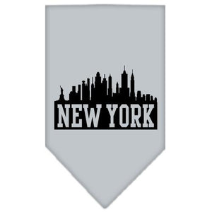 New York Skyline Screen Print Bandana Grey Small