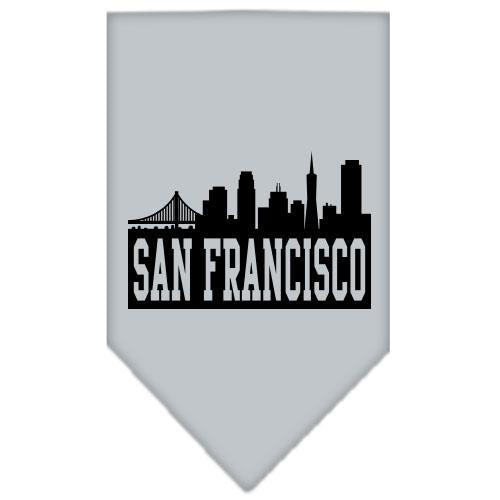 San Francisco Skyline Screen Print Bandana Grey Large