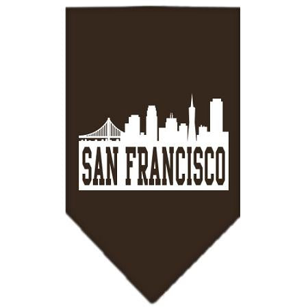 San Francisco Skyline Screen Print Bandana Cocoa Small