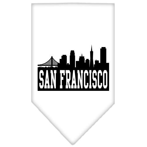 San Francisco Skyline Screen Print Bandana White Small
