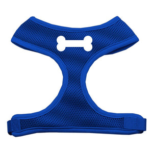 Bone Design Soft Mesh Harnesses Blue Small