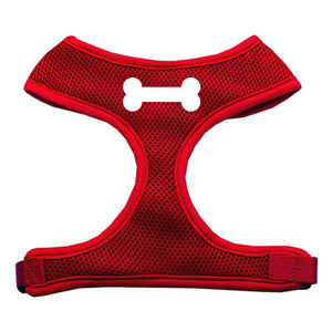 Bone Design Soft Mesh Harnesses Red Extra Large