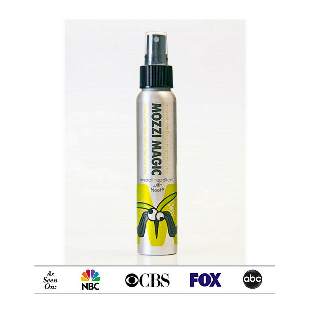 As seen of NBC, CBS, FOX and ABC, Mozzi Magic Insect Repellent with nootkatone repels ticks and mosquitoes