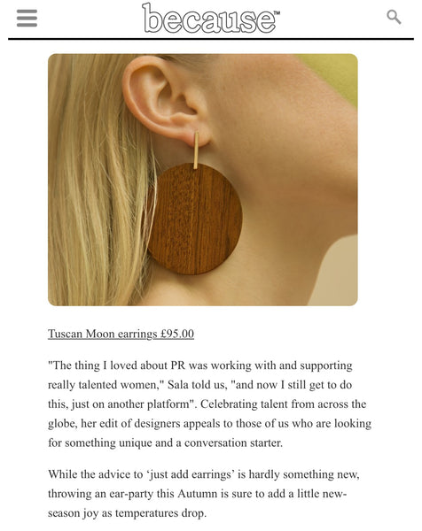Sophie Monet Tuscan Moon earrings
