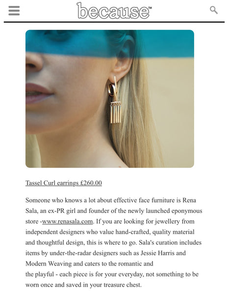 Jessie Harris Tassel Curl earrings