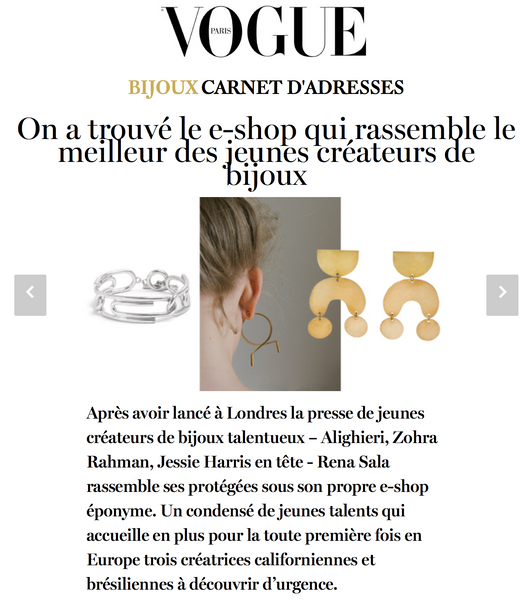 Rena Sala store in Vogue Paris