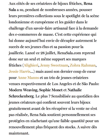 Vogue Paris feature on Rena Sala