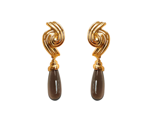 Amaretto drop earrings
