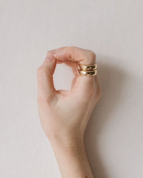 Alma stack rings in Gold