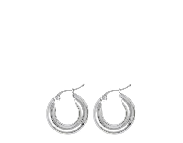 Small Freja hoops in Gold & Silver