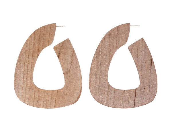 Bell hoops in Maple by Sophie Monet at Rena Sala store