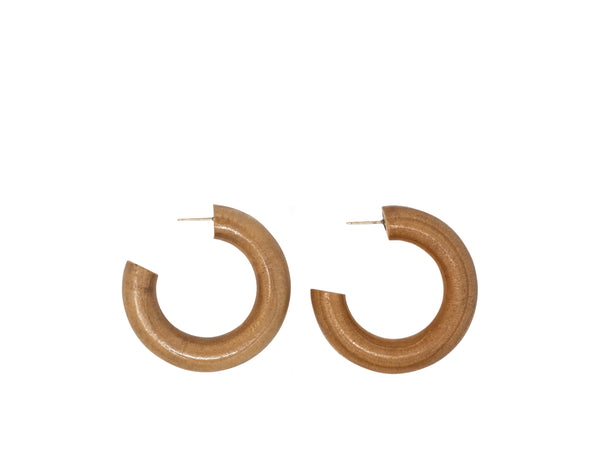 Sophie Monet small Pine hoops at Rena Sala store