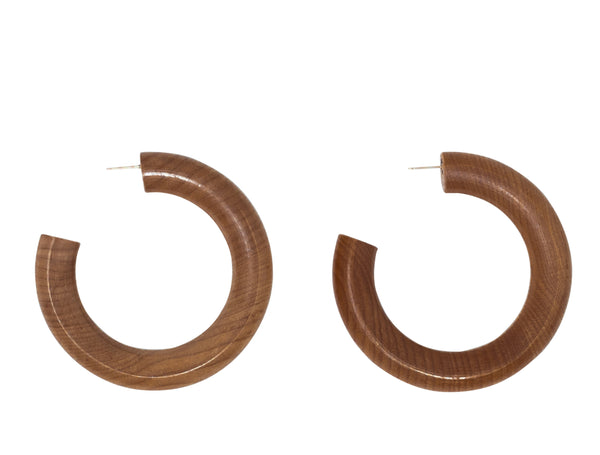 Sophie Monet large Pine hoops at Rena Sala store