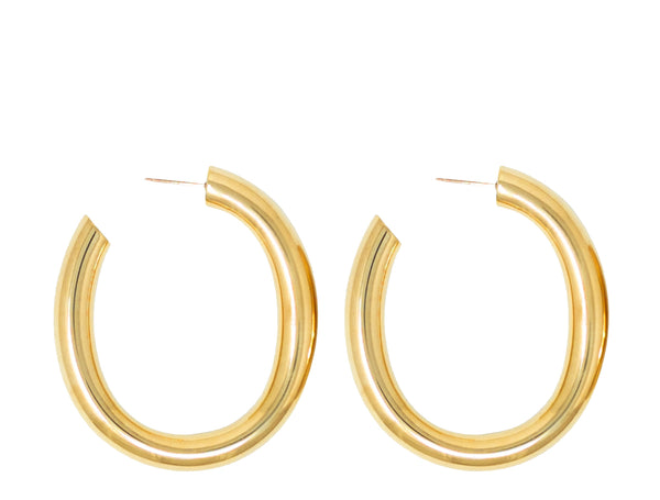 Laura Lombardi Curve hoop earrings at Rena Sala store