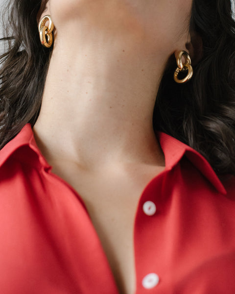 Laura Lombardi Link earrings at Rena Sala store photographed by Iringo Demeter