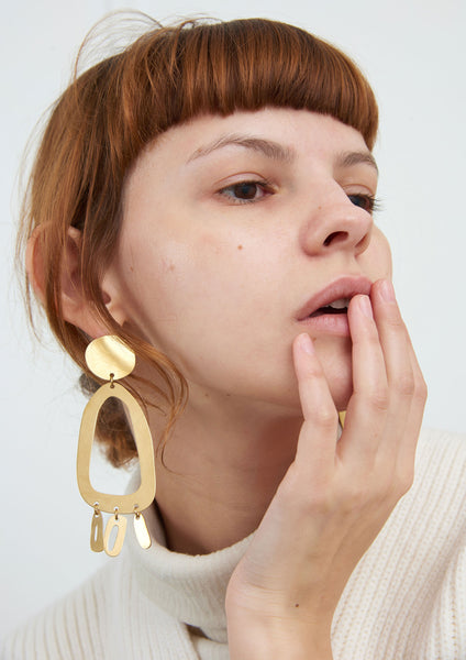 Odd Oval earrings