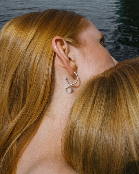 Shape earrings in Silver & Gold