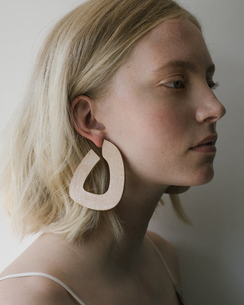 Maple Bell hoops by Sophie Monet at Rena Sala store photographed by Iringo Demeter