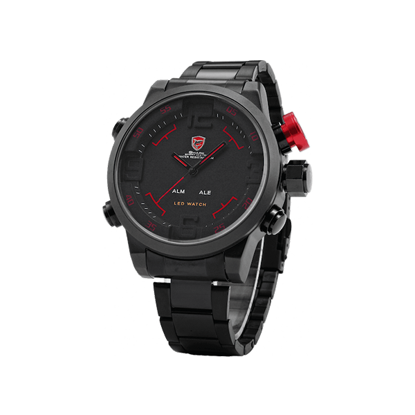 Red Shark Army Sportwatch Fitness Running Scalata Allarme Water Resistant Calendario  Ora legale con zona multipla Schermo digitale e analogico Display Led