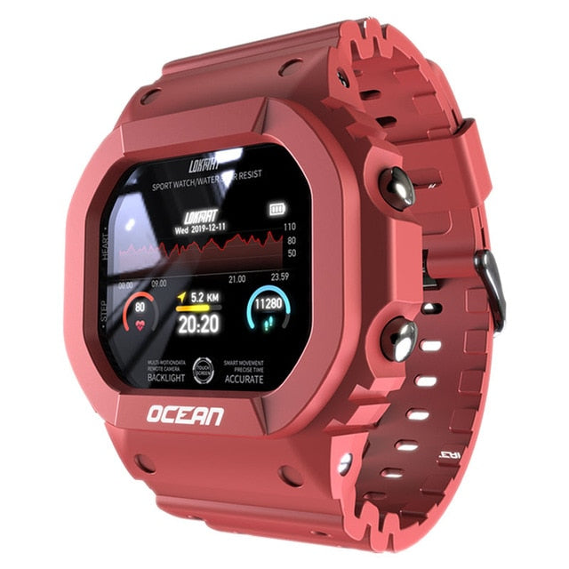 Ocean Smart Watch Red Fury