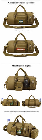 2018 Top Quality Canvas Outdoor Male Sport Bag Military Men And Women Fitness Shoulder Gym Bag Training Female Yoga Duffel Bag