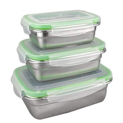Tupperware in acciaio inossidabile 350ml/550ml/850ml/1800ml