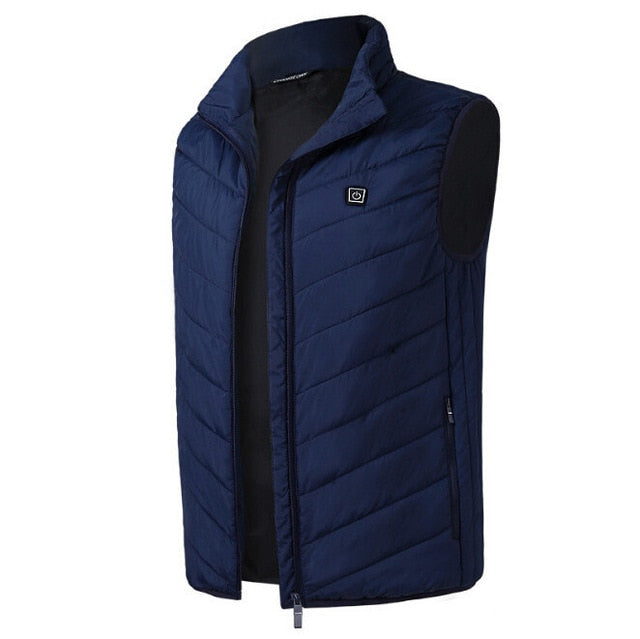Tactical Heated Jacket Gilet Blue
