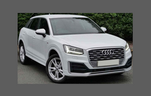 Audi Q2 2017-Present, Rear Bumper Upper Area BLACK Paint Protection