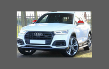 Audi Q5 / SQ5 (Type FY) 2019-Present, Door Mirror Caps CLEAR Paint Protection