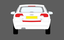 Audi A3 / S3 (Type 8P Facelift) 2008-2012, Rear Bumper Upper BLACK Scratch Protection