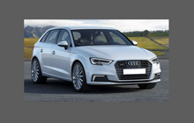 Audi A3 / S3 / RS3 (Type 8V Facelift) 2016- Door Mirror Covers CLEAR Paint Protection