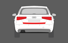 Audi A3 / S3 / RS3 (Type 8V) 2013-2016 Rear Bumper Upper CLEAR Shield