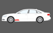 Audi A7 / RS7 / S7 (Type 4G8) 2011-2017, Front Door & Wing Lower OE Style CLEAR Paint Protection