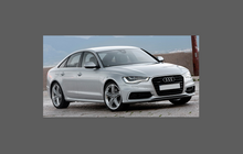 Audi A6 / S6 / RS6 (Type 4G) 2012-2015 Rear Bumper CLEAR Scratch Protection