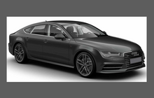Audi A7 S7 RS7 2010-, Front Door & Wing Lower OE Style CLEAR Paint Protection