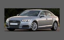 Audi A4 / S4 / RS4 (Type B9 8W) 2016-, Door Mirror Covers CLEAR Paint Protection