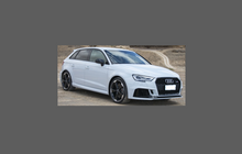 Audi RS3 (Type 8V Facelift) 2016-, Front Bumper CLEAR Paint Protection