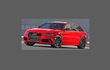 Audi A6 / S6 / RS6 (Type 4G) 2012-2015 Door Mirror Covers CLEAR Stone Protection