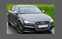 Audi S3 (Type 8V Facelift) 2016-, Front Bumper CLEAR Paint Protection
