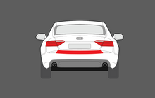 Audi A5 / S5 (Type F5) 2016-, Rear Bumper Upper Load Area CLEAR Paint Protection