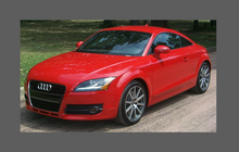 Audi TT MK2 (Type 8J) 2006-2014 Headlights & Fogs CLEAR Stone Protection