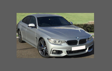 BMW 4-Series M-Sport (Type F32 F33) 2013-2020, Front Bumper CLEAR Paint Protection