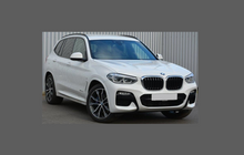 BMW X3 Series (Type G01) 2017-, Rear Bumper Upper BLACK TEXTURED Scratch Protection