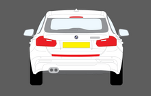 BMW 3-Series Estate (Type F31) 2012-, Rear Bumper Upper CLEAR Paint Protection