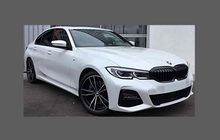 BMW 3-Series (Type G20) 2019-Present, Rear Sill Skirt Trim Section CLEAR Stone Protection