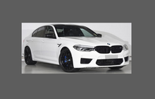 BMW M5 (Type F90) 2017-, Rear bumper upper CLEAR Scratch Protection