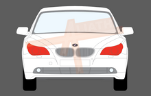 BMW 5-Series (Type E60 & E61) 2003-2010, Headlights CLEAR Paint Protection