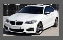 BMW 2-Series (228i, M235i) (Type F22) 2014- Door Handle Cups CLEAR Paint Protection